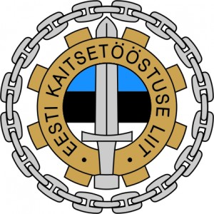 Logo of the Estonian Defence Industry Association (colored)